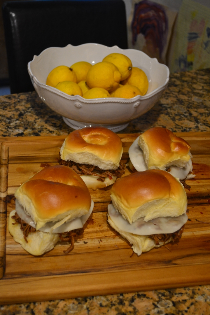Recipe Slow Cooker Short Rib/London Broil Sliders